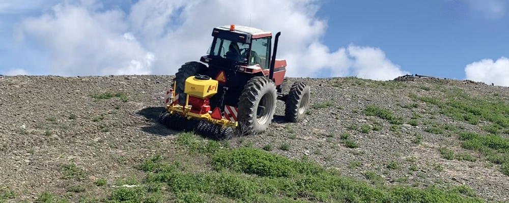 Benefits Of Using An APV Roller VS Hydro Seeding On Your Landfill